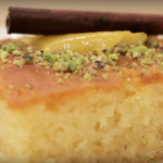 Traditional Ravani (Sweet Semolina Cake)