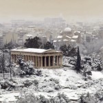 Snowing in Greece!