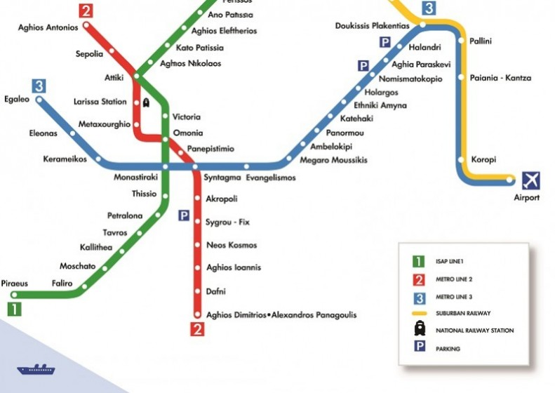 Subway Map Athens Greece.Athens Transport Ticket Tips Travel Zone Greece