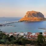 Swim in the blue of Monemvasia