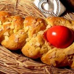 "Greek Easter Tsoureki & red Eggs : Ancient era and Christianity ""marriage"""