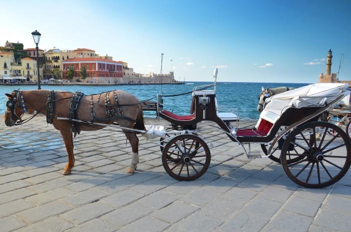 crete chania harbor