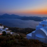 Sunset at the Venetian Castle of Milos