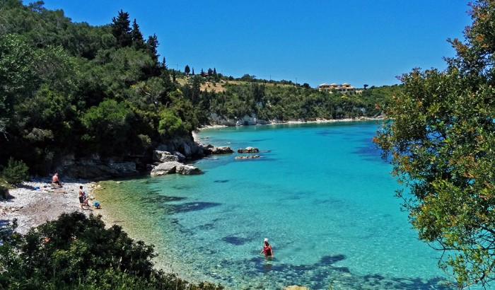 Marmari Beach On The Island Of Paxos