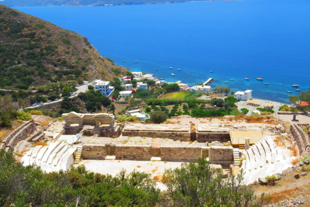 ancient roman theater of Milos