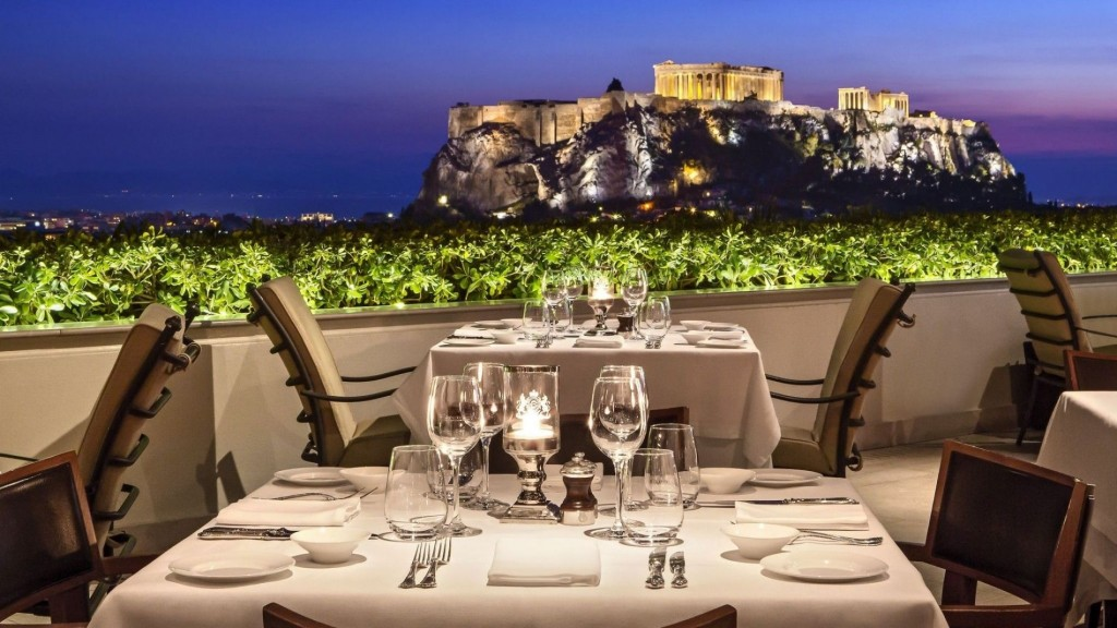 roof gardens in Athens