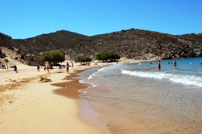 beaches in patmos