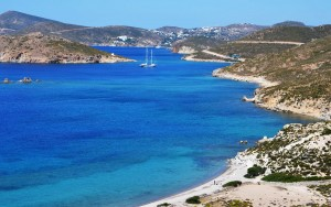 beaches in patmos