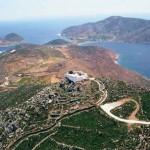 Profitis Ilias in Patmos Overlooks the Island
