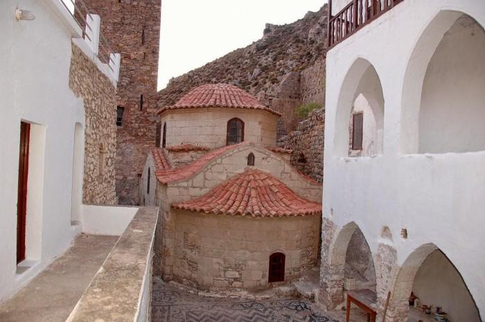 tilos monasteries