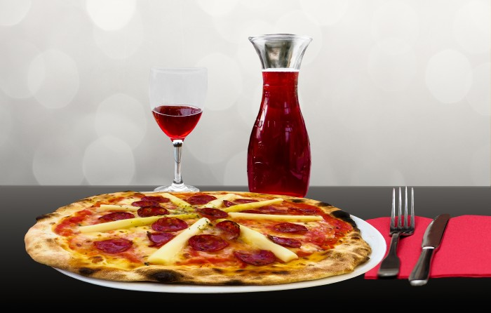 pizza and wine-1237431