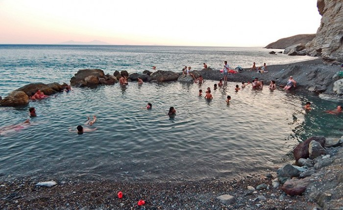 kos thermal springs