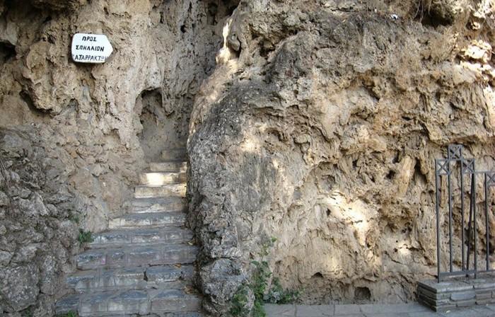 edessa waterfalls cave