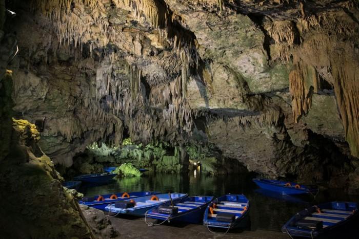 glyfada cave at diros