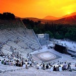 Ancient Theater of Messene in Peloponnese