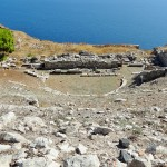Ancient Theater of Thera in Santorini