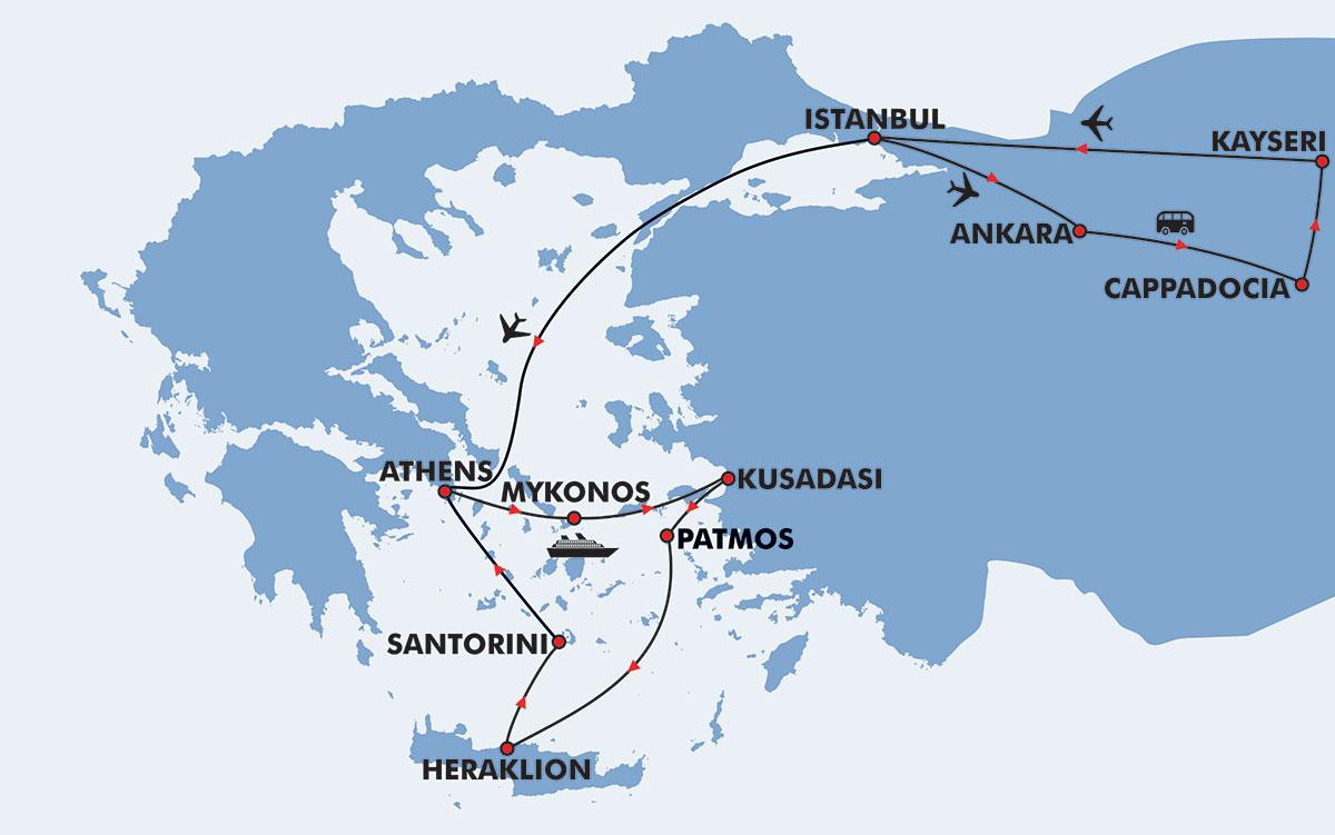 Vacation Package Cappadocia Amp Greek Islands 11 Days