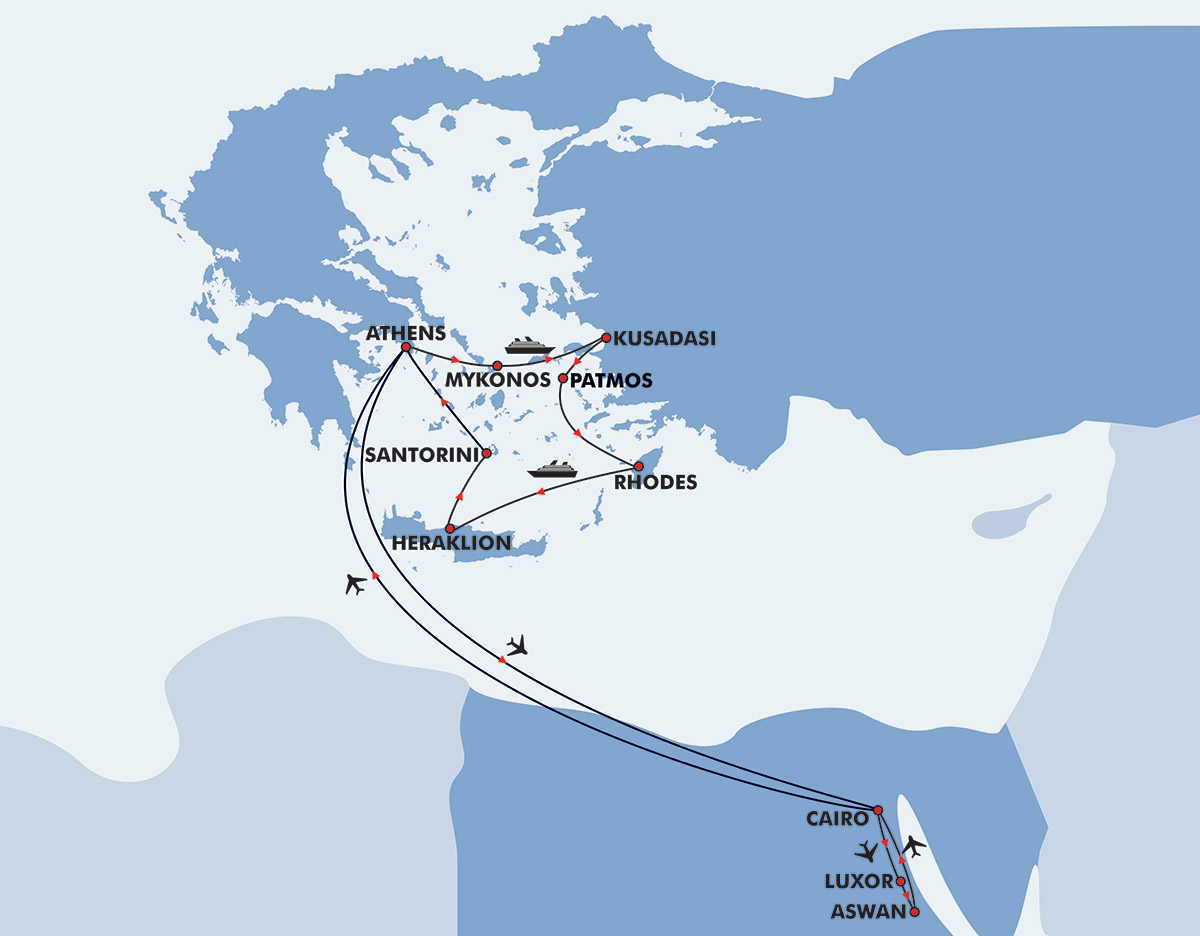 Greece Amp Egypt Tour 15 Day Itinerary Travel Zone