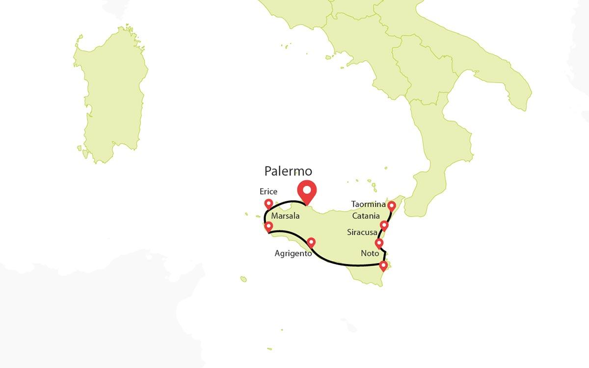 Sicily Tour 7 Days Palermo Syracuse Taormina Travel Zone